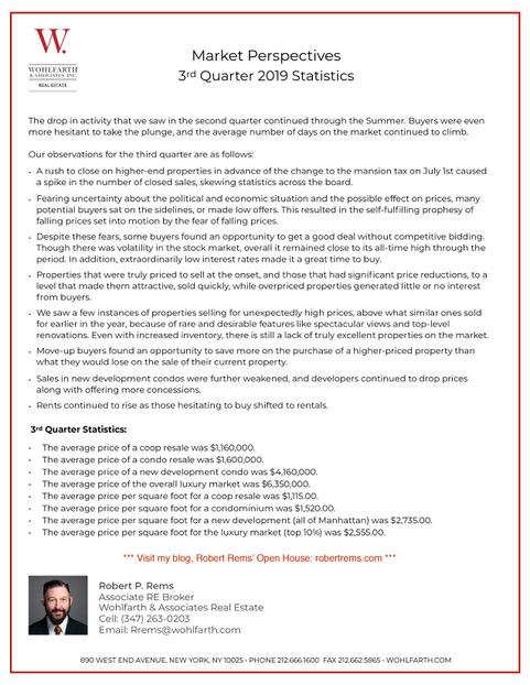 Market Report 3rd Quarter 2019 Robert V2